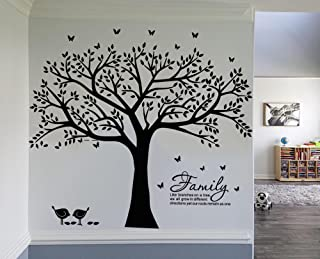LSKOO Family Photo Frame Tree Wall Decals Family Tree Decal Family Like Branches on a Tree Room Home Decor (108