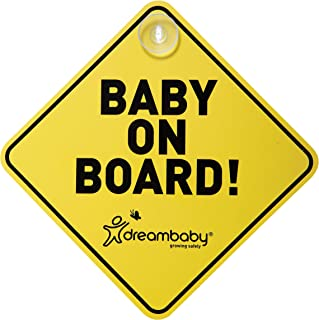 Spanish Language SUMEX Babyesp Warning Sign with /'Beb/é A Bordo/' Design and Suction Cup