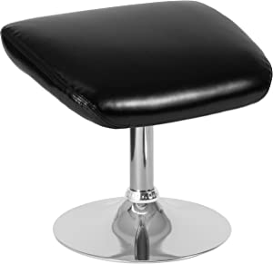Flash Furniture Egg Series Black Leather Ottoman