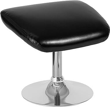 Flash Furniture Egg Series Black LeatherSoft Ottoman