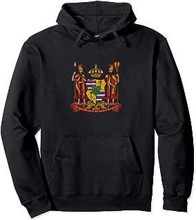Hawaii Monarchy Coat of Arms - Vintage Distressed Pullover Hoodie