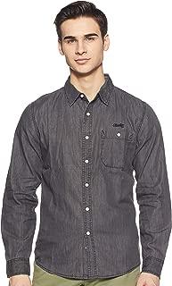 CHEROKEE Men's Solid Regular fit Casual Shirt (400018129869_Black M)
