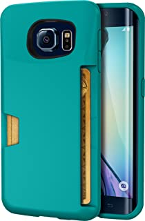 Smartish Galaxy S6 Edge Wallet Case - Wallet Slayer Vol. 1 - Ultra Slim Protective Credit Card ID Cover - (Silk) - Pacific Green