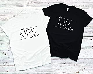 Mr and Mrs Shirt, Mr and Mrs, Just Married Shirt, Honeymoon Shirt, Wedding Shirt, Wife And Hubs Shirts, Just Married Shirts, Couples Shirts