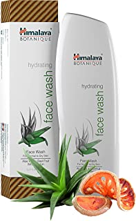 Himalaya Botanique Hydrating Natural Face Wash with Aloe Vera, Bael Fruit Wintermelon for Normal to Dry Skin 5.07 oz (150 ml)