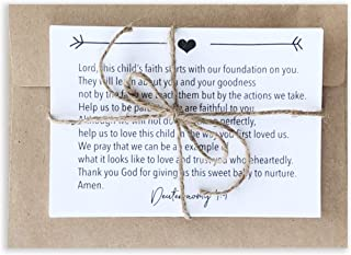 Pregnancy Prayer Cards - Expecting Mom Gifts -Bible Verse Memory Cards to pray for Baby