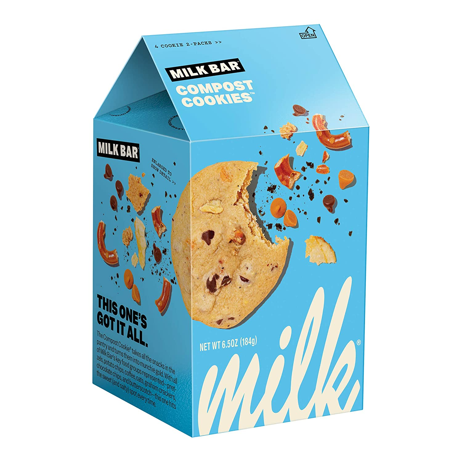 MILK BAR Chocolate Chip Industry No. 1 New Orleans Mall Cookie Chips Pretzels Potato with Coff