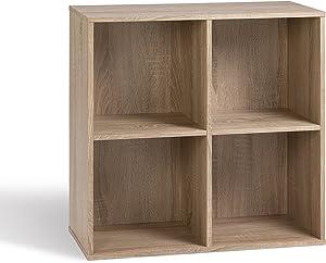 Alsapan 483650 - Mobiletto a 4 scomparti, in legno di rovere, 62 x 30 x 62 cm
