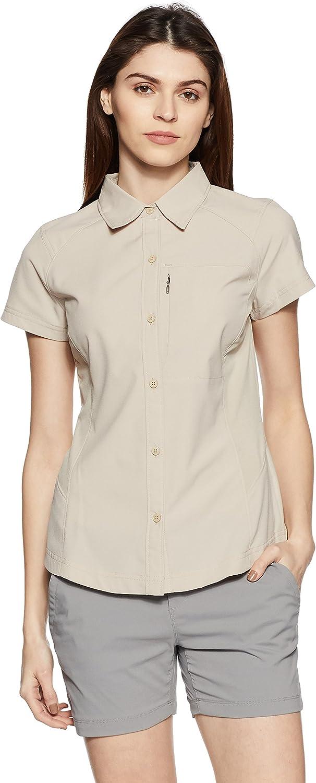 (Small, Fossil) - Columbia Women's Silver Ridge Short Sleeve Shirt