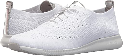 Optic White Knit/Cole Haan Argento Metallic/Optic White