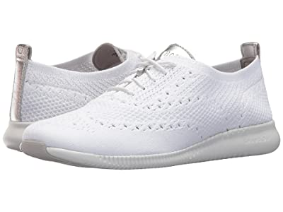 Cole Haan 2.Zerogrand Stitchlite Oxford (Optic White Knit/Cole Haan Argento Metallic/Optic White) Women