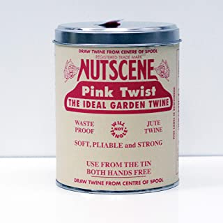 Nancy Nikko NUTSCENE Iconic Tin (Tin 'O' Twine) with Their Heritage Scottish Jute Twine and Hole in Top for Easy Dispensin...