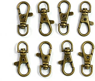"""ALL in ONE Lobster Claw Swivel Clasps Lobster Snap Clasp Hook for Key Ring DIY Craft Jewelry Making 1-1/2""""x5/8"""" (Antique Bronze-50pcs)"""