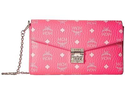 MCM Millie Visetos Small Crossbody Medium (Neon Pink) Handbags