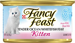 Fancy Feast Purina Kitten Tender Ocean Whitefish Feast Cat Food, 85 gm