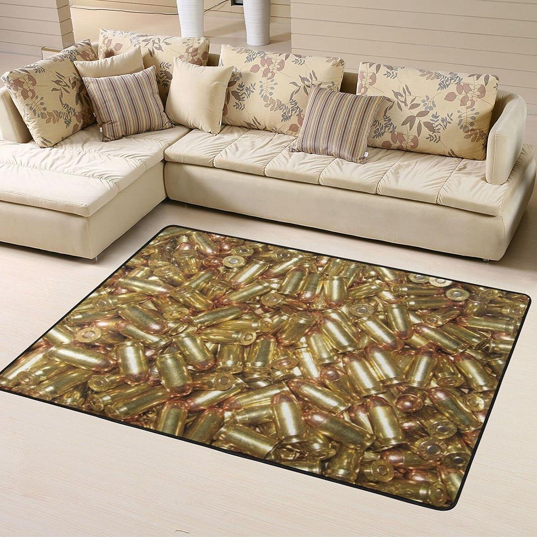 Gold Gun Bullet Soldering Home Area Rugs Non Floor for Thr Mats Slip Tucson Mall Kids