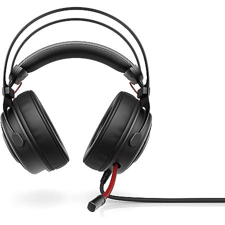 OMEN by HP Omen 800 Cuffia Gaming con Microfono Regolabile e Retrattile, Rivestita in Pelle, Multipiattaforma, Jack 3,5 mm, Compatibile con PC, PS4 e Xbox 1, Cavo Resistente a Maglia Intrecciata