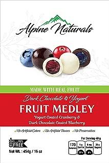 Alpine Naturals Fruit Medley Dark Chocolate Blueberries & Yogurt Cranberries, 16 Ounce