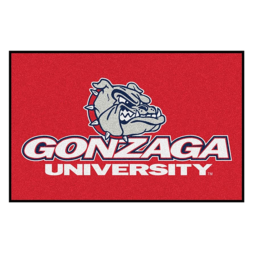 FANMATS NCAA Gonzaga University Bulldogs Nylon Face Starter Rug