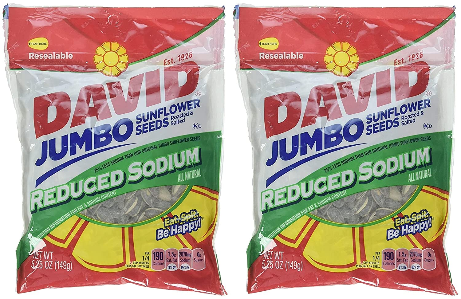 David's Sunflower Max 81% OFF Seeds Reduced Salt oz may Same day shipping va Packaging 5.25