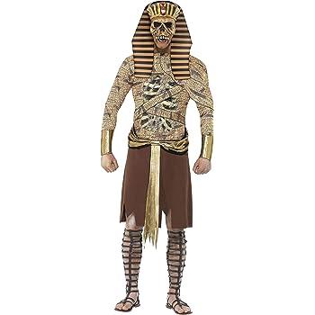 Smiffys-40097M Halloween Disfraz de faraón Zombi, Dorado, con ...