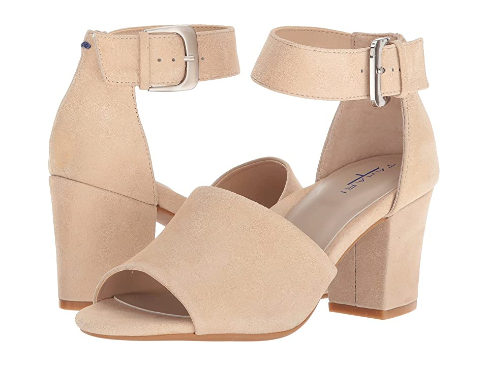 Tahari Pennie (Bare Nude Shimmer Suede) High Heels