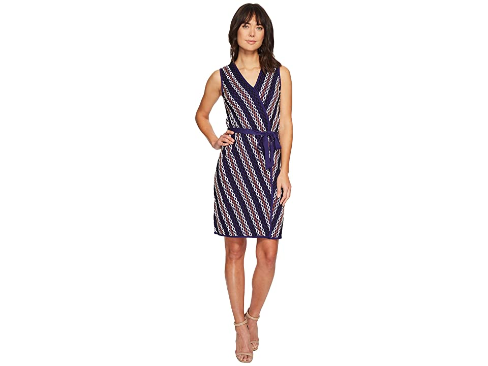 NIC+ZOE Squiggled Up Wrap Dress (Multi) Women