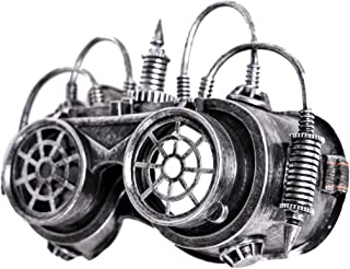 Arsimus Silver Steampunk Flip Goggles with Wires