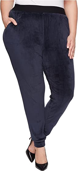 HUE - Plus Size Velour Track Pants