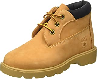 Timberland 男女通用儿童防水马球靴 Beige (Wheat) 1 UK