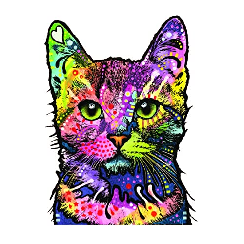 74c128f19 Enjoy It Dean Russo Cat Car Sticker, Outdoor Rated Vinyl Sticker Decal for  Windows,