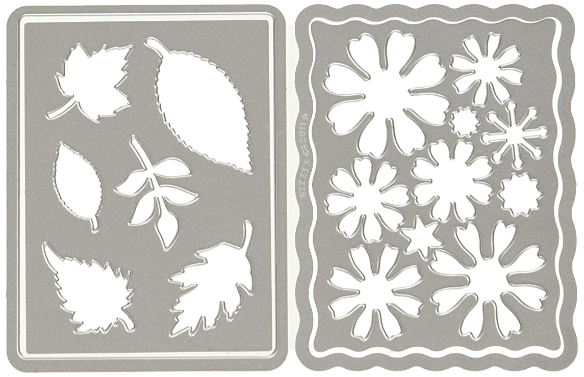 Sizzix Thinlits Die Set 4PK - 662811 Flowers and Leaves Journaling Cards by Eileen Hull