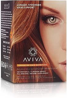 Aviva Advanced Hair Nutrition, Hair Growth, and Hair Repair Supplement, 120 Softgels - 2 Month Supply