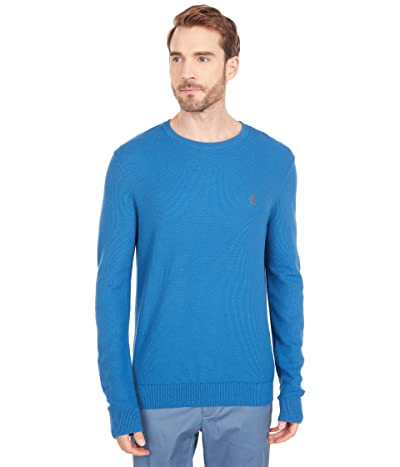 Original Penguin Tuck Stitch Crew Sweater (Blue Sapphire) Men