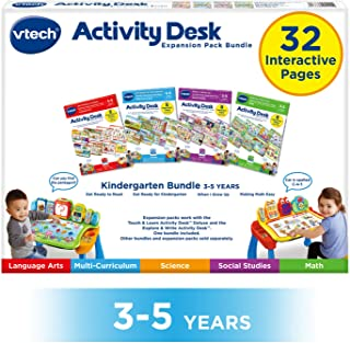 VTech Touch and Learn 活动桌豪华 4 合 1 幼儿园捆绑包 II 适合 3-5 岁