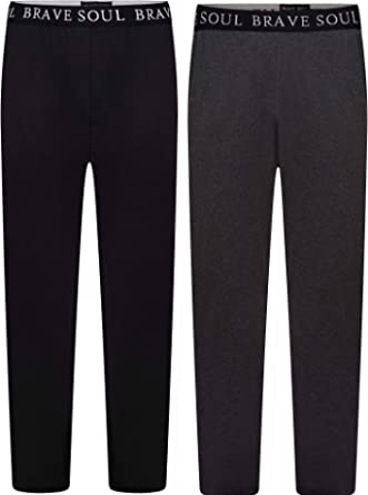 Best Deals Direct 2 Pack Mens Checkered Lounge Pants Trousers Pyjamas Bottoms Cotton Blend