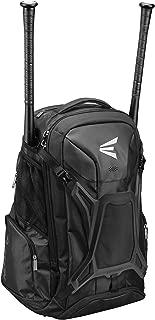 Easton Walk-Off PRO Bat & Equipment Backpack Bag | Baseball Softball | 2020 | 2 Bat Sleeves + Zippered Pockets | Vented Shoe Pocket | Molded External Helmet Holder + Team Logo Space | Fence Hook
