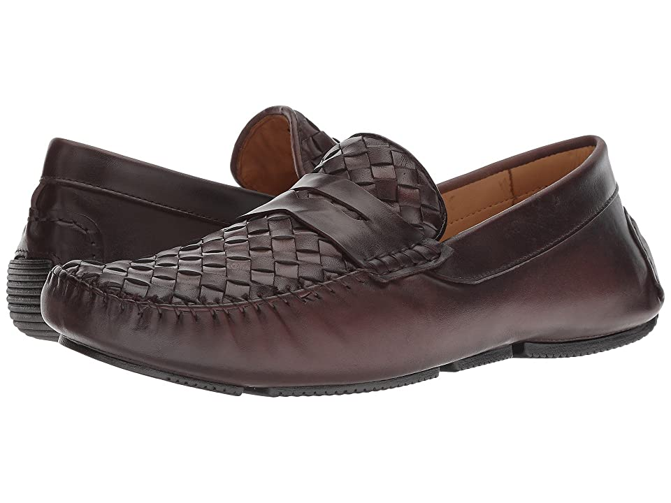 Massimo Matteo Woven Penny Driver (Burnished Cafe) Men
