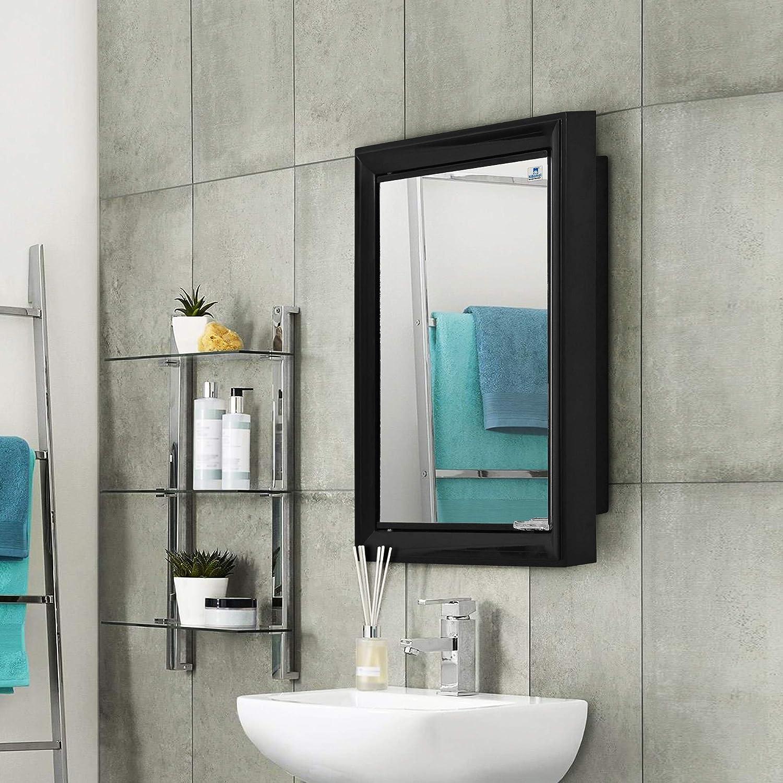 Nilkamal Gem Plastic Cabinet With Mirror Black Amazon In Furniture