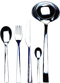 Mepra 105922049 Flatware Set, [49 Piece, Metallic Finish, Dishwasher Safe Cutlery