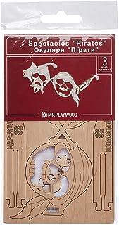 Mr. Playwood- Gafas Pirata Kits Madera, Color (3)