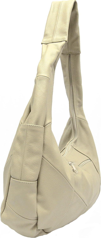 Bellisimo Pebbled Leather Large Shoulder Bag Purse Hobo