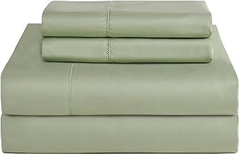 Pointehaven T-800 Pima Cotton Deep Pocket Luxury King Sheet Set, Queen, Sage