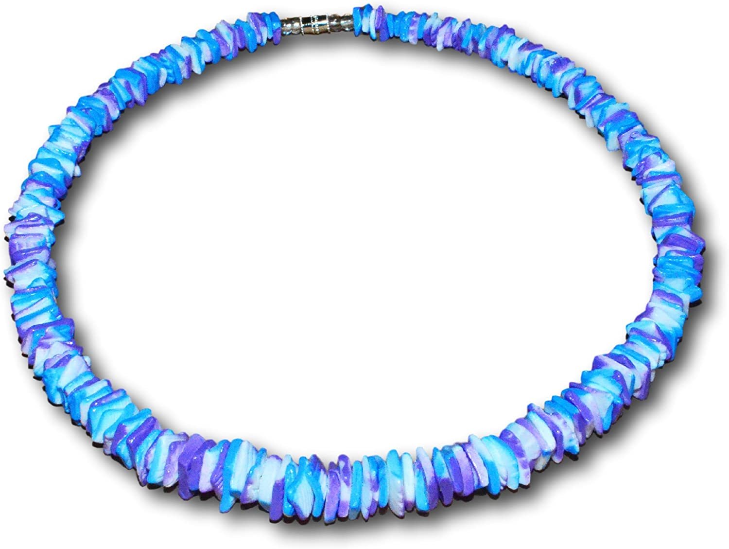 Native Treasure Puka Max 74% OFF Chip Clam Tie-Dyed Blue Necklace Vio New Shipping Free Shipping Shell