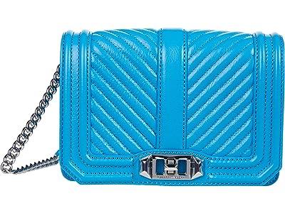 Rebecca Minkoff Chevron Quilted Small Love Crossbody (Marina) Cross Body Handbags