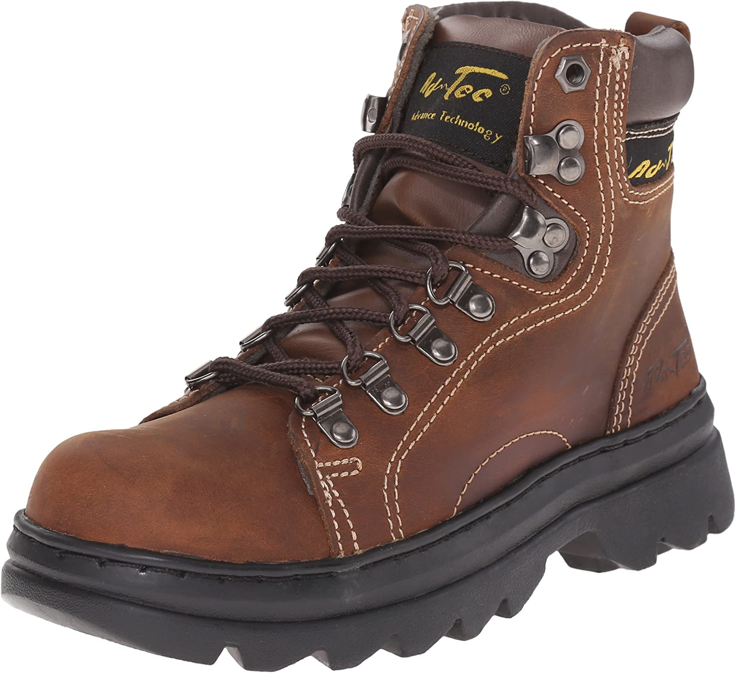 AdTec Womens 6 in Hiking Crazy Horse Leather Padded Collar Work Boot, Brown