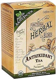 MATE FACTOR ORGANIC ANTIOXIDANT WITH TURMERIC TEA 20 TEA BAGS