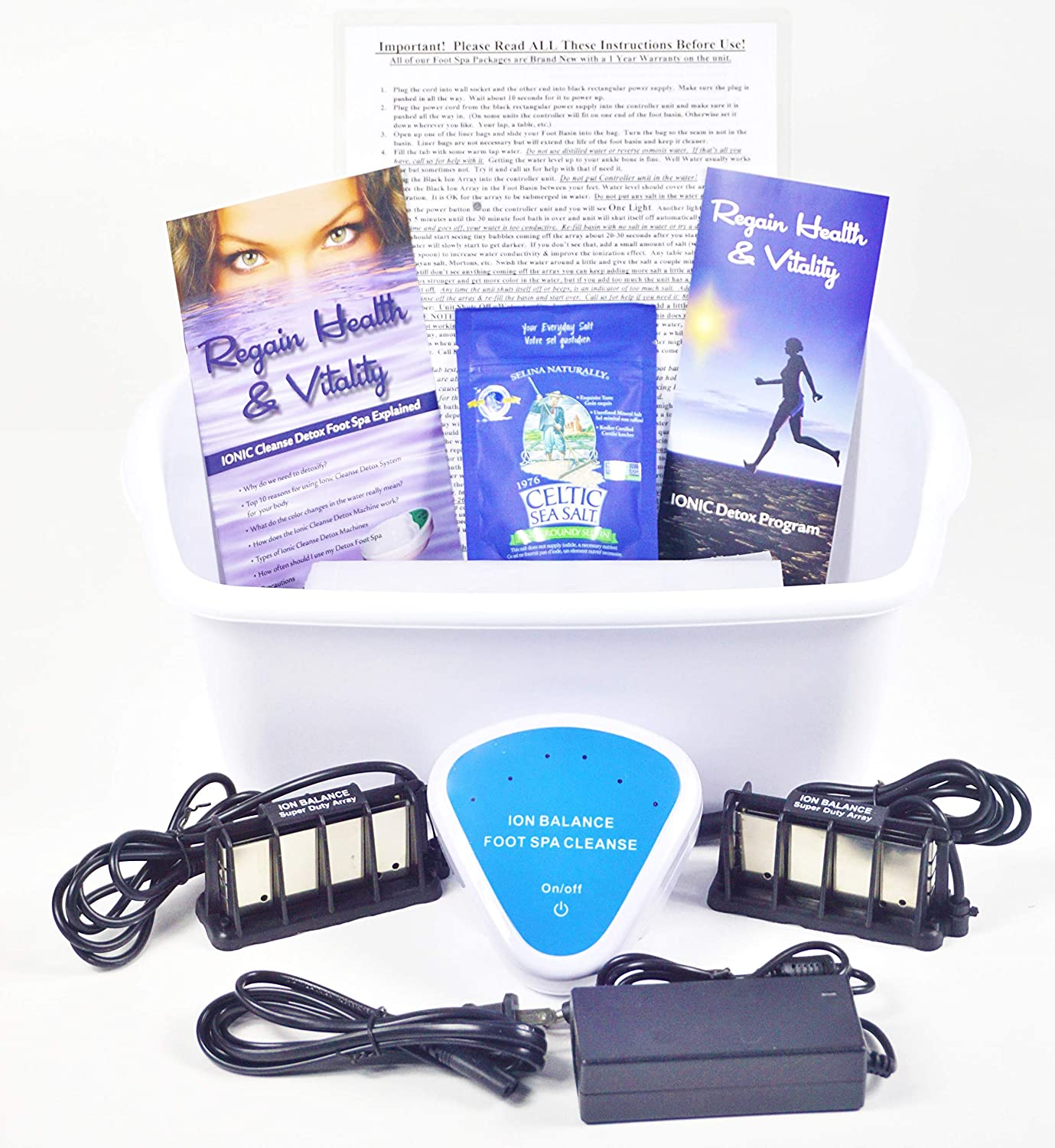 Ranking TOP15 Ion Ionic Sales Detox Foot Spa Cleanse Use; Upgr for Unit Machine Home