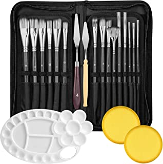 Lakobos Oil Paint Brushes Sets Professional Artist Acrylic Brush Kits for Watercolor Canvas Painting - 15 Sizes Brush 1 Pa...