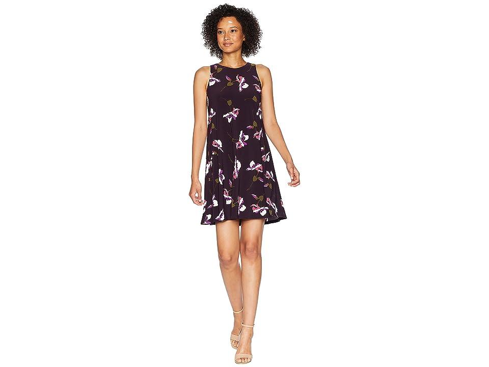 LAUREN Ralph Lauren Suzan Sleeveless Day Dress (Raisin/Purple/Multi) Women